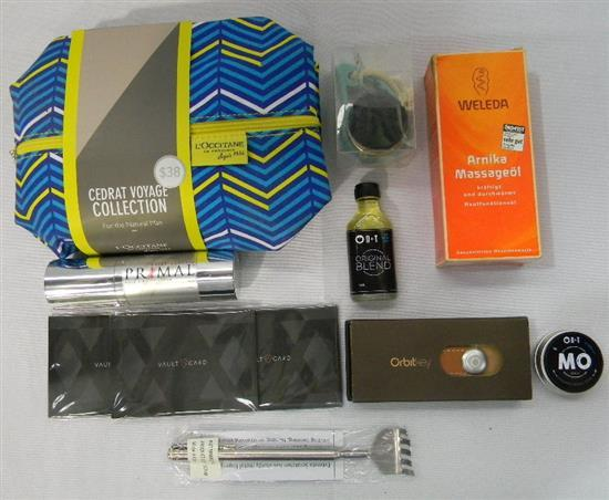 The Man Bag incl. Primal Virility Cream, Orbit key & L' Occitane gift bag