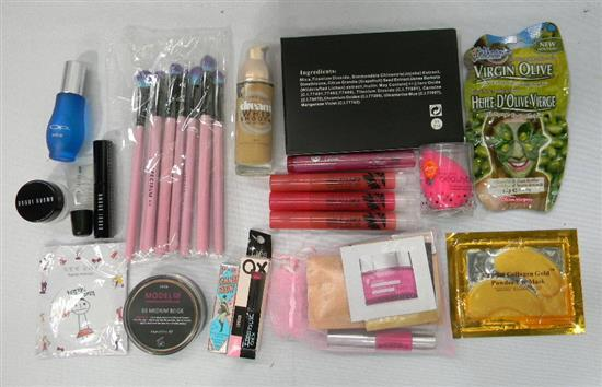 A make-up starter pack incl. brushes, mascara, mineral powder, foundation, lip gloss etc.