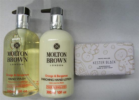 The Molton Brown Pack incl hand wash & lotion plus soap