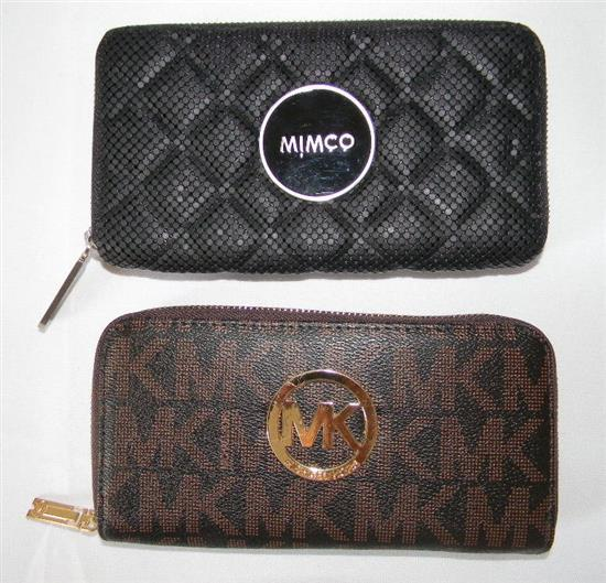 Two ladies fashion wallets marked Mimco & Michael Kors