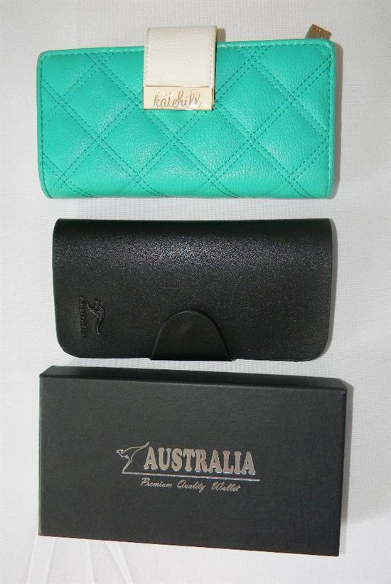 Two ladies fashion wallets marked Kate Hill and another