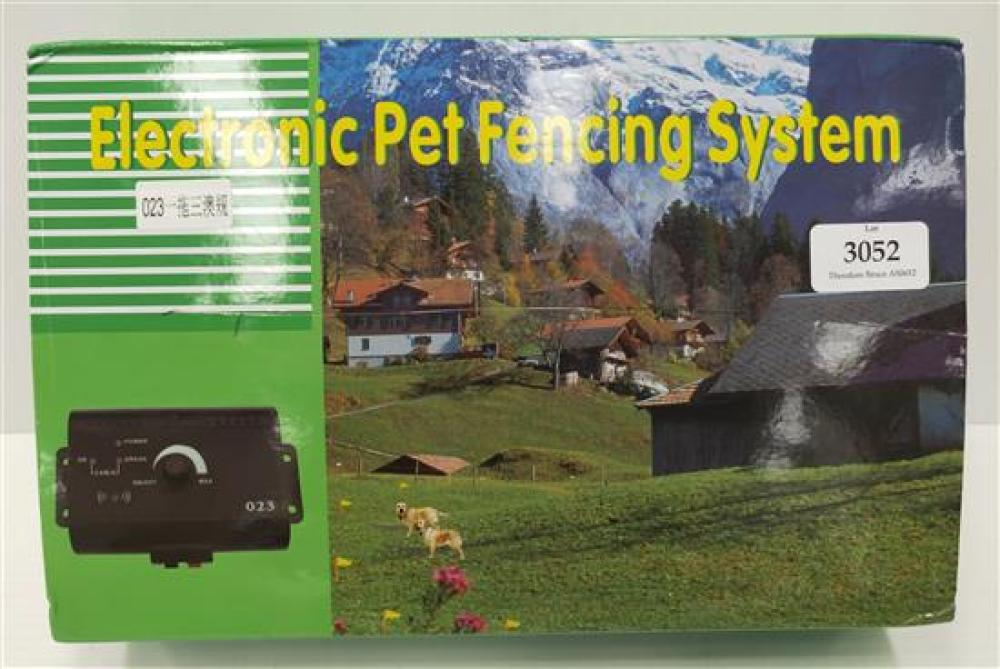A electronic pet fencing system