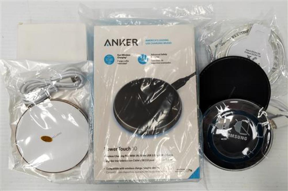 A bag of wireless phone chargers