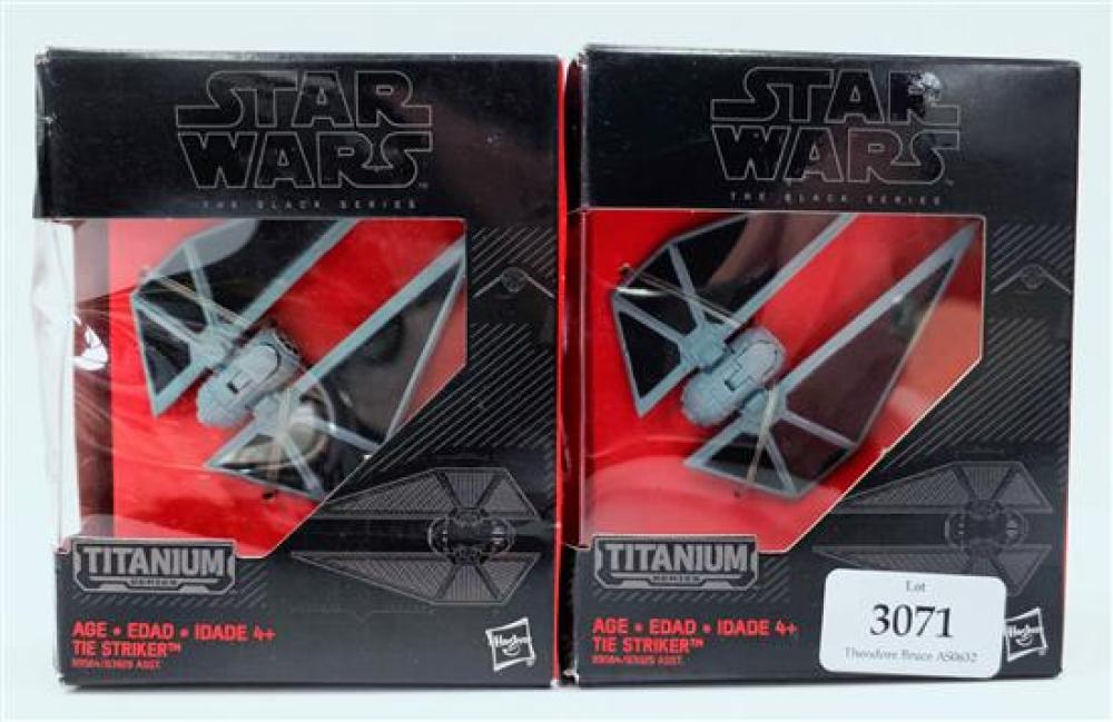 Two Star Wars 'The Striker' figurines in sealed box