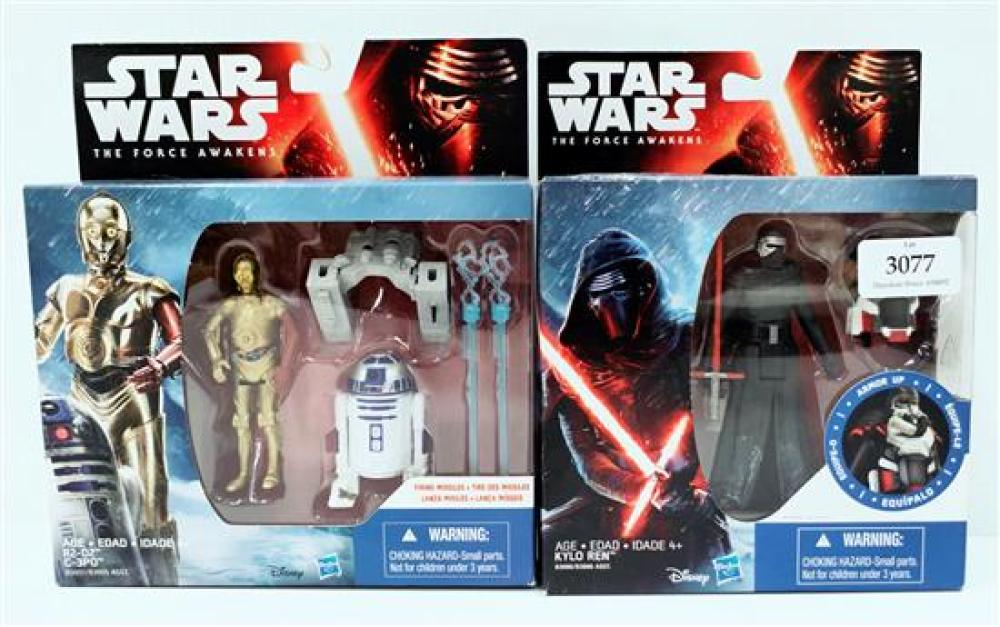 Two figurines marked Star Wars  incl. Kylo Ren & R2-D2