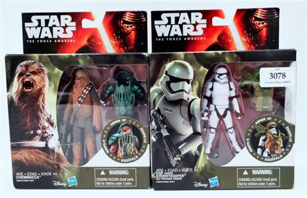 Two figurines marked Star Wars  incl. Storm Trooper & Chewbacca