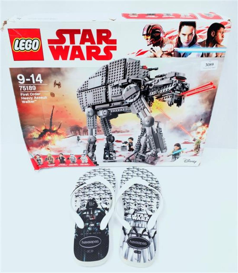 The Star Wars lot incl. Lego No. 75189 & Adult Havaianas size 39 - 41