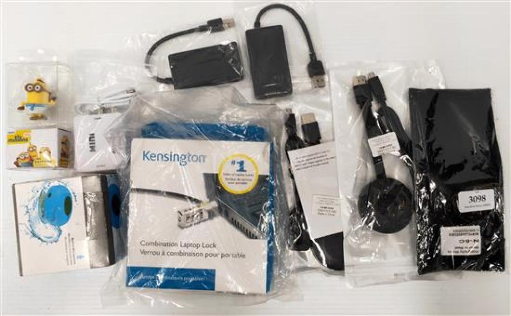 A selection of electrical accessories incl. casting device & USB devices