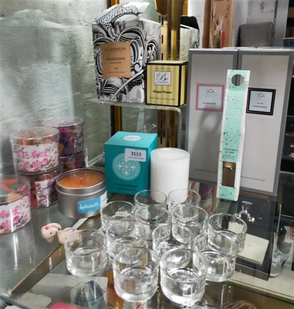 A sellection of candles, reed diffusers etc.