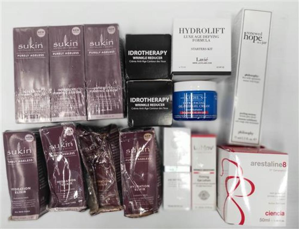 A bag of assorted anti-aging products incl. Nerium
