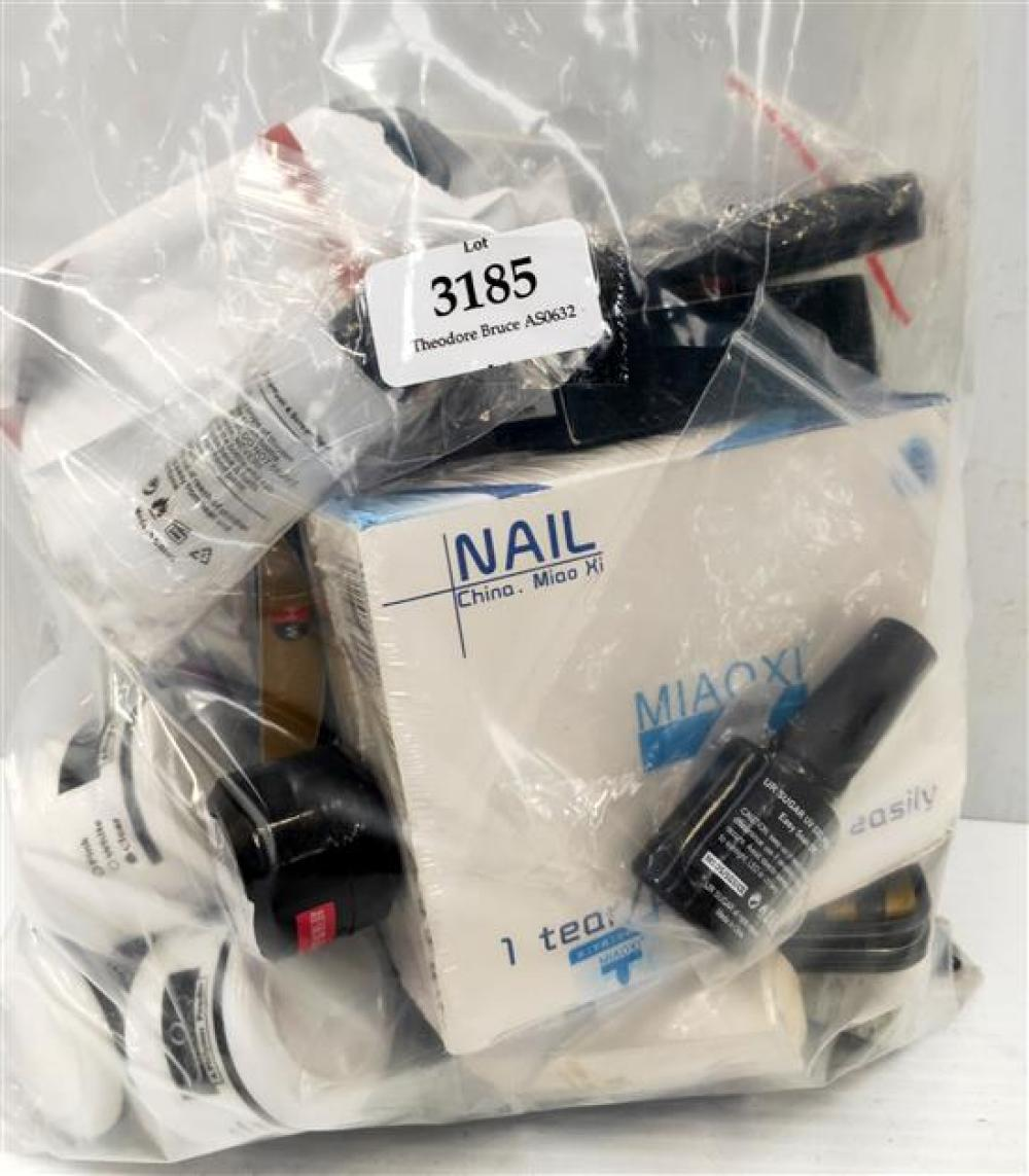 A bag of nail polishes & accessories