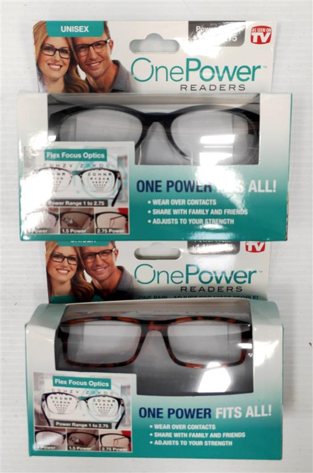 Two pairs of unisex OnePower Readers