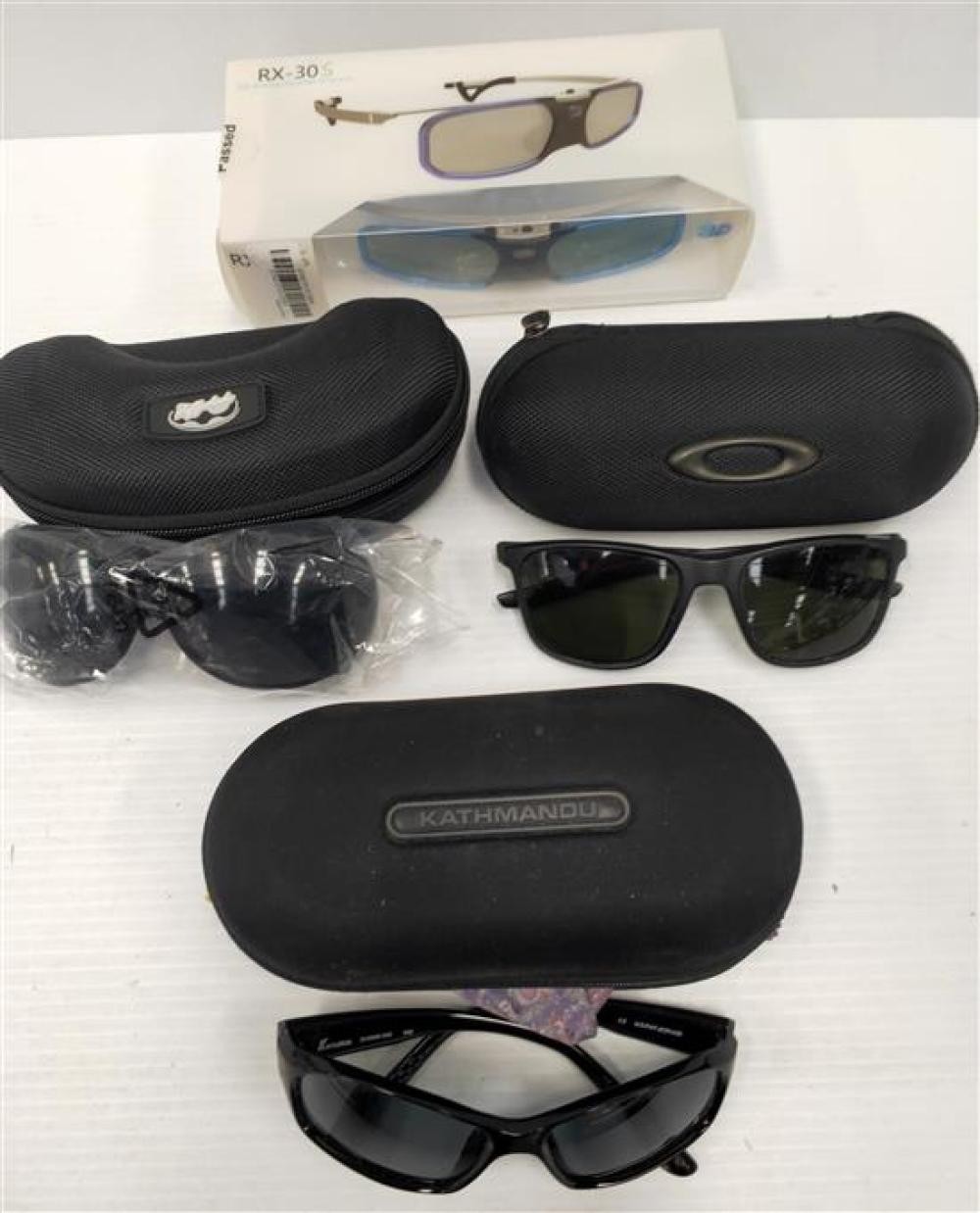 A bag of four assorted sunglasses incl. The Fylshades & RX-30S