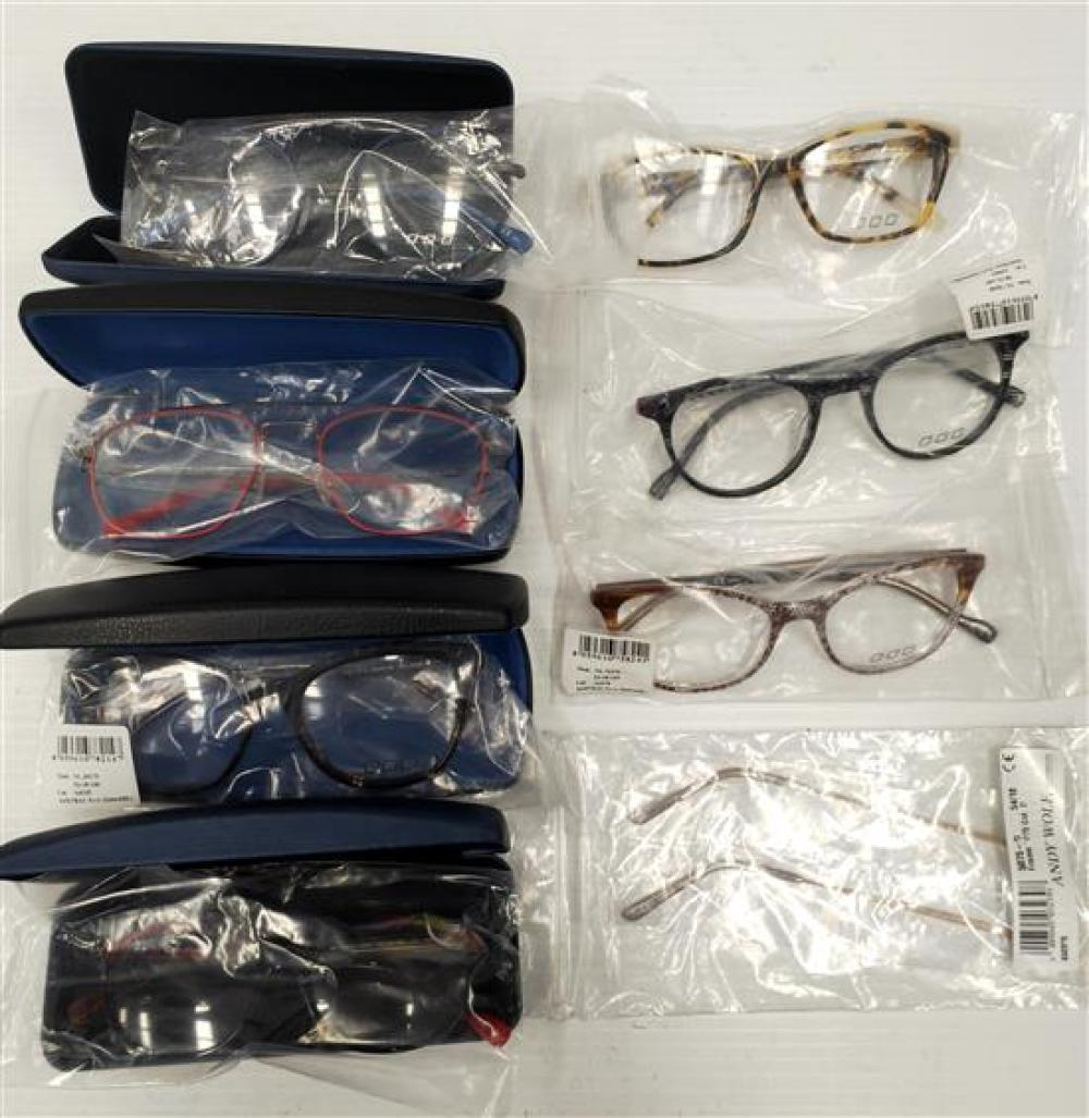 A bag of assorted unscripted eyeglasses
