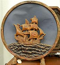A Radio Speaker with a Ship in full sail motif