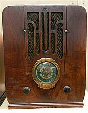 A Silvertone timber cased Radio