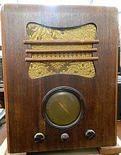 A large 1930s Tombstone Radio