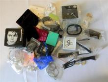 A bag of mostly boxed & bagged costume jewellery