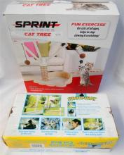 Sprint Industries cat tree together with two Sunny Seat cat beds