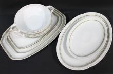 Two [2] Bavarian Decorative Platters & Four [4] Rosenthal 'Hortense' Platters with Two [2] Matching Serving Bowls