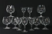 A Collection of Glassware, Including Six Snifters and Five Sherry Glasses (11)