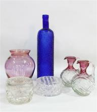 A Selection of Misc. Glassware incl. Bohemia Crystal Vase, jugs & lidded dishes