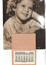 A 1938 Shirley Temple Curley Top Calendar