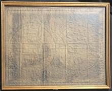 A New and Accurat Map of the World, paper age discoloured, extremely brittle, framed