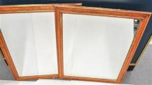 A Pair of Large Rectangular Timber Framed Mirrors