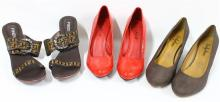 Three Pairs of Ladies Shoes,