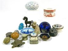 A Collection of Trinket Boxes & Animal