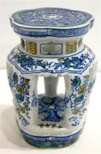 A Chinese Style Porcelain Stand