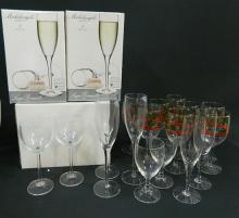 A Collection of Glassware including Wine, Champagne