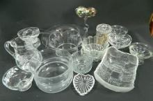 A Collection of Glassware including Dishes, Jugs, Bowls