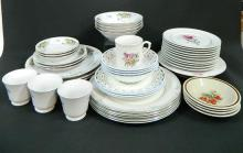 A Collection of Floral Pattern Dinnerware