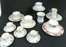 Five Trios Including Aynsley, Coalport, Royal Albert plus four coffee cans and a vase