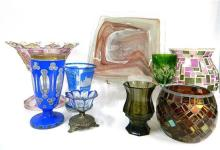 A Collection of Glass including Dishes, Platters, Glasses