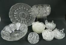 A Collection of Bohemia Crystal Dishes,