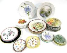 A Collection of Floral Plates including Rosenthal