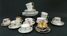 A Collection of Teacups & Saucers including Rosenthal,