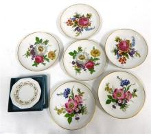 Six Sohie Enthal Flower Dishes & a Rosenthal Classic Flower Dish