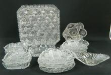 A Collection of Bohemian Crystal Platters & Bowls