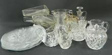 A Collection of Glassware including Ice Buckets, Jugs, Dishes
