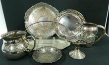 A Collection of Silver Plate including Trays, Jugs & Dishes
