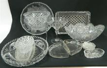 A Collection of Glassware including Dishes & Bowls