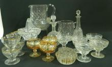 A Collection of Glassware including Jugs, parfait dishes etc