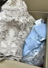 Both of Assorted Linen, Lace & Napery