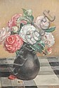 Nora Heysen (1911-2003, Australia) Floral Still Life - Camellias in Stoneware Vase oil on canvas, Nora Heysen, Click for value