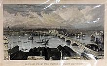 William Bell Scott (1811-1890) British London from the Tower of Saint Saviour''s Handcoloured steel engraving