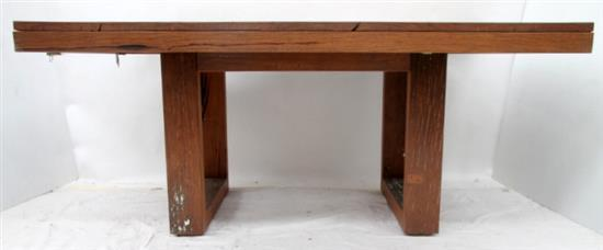 A Square Recycled Timber Dining Table
